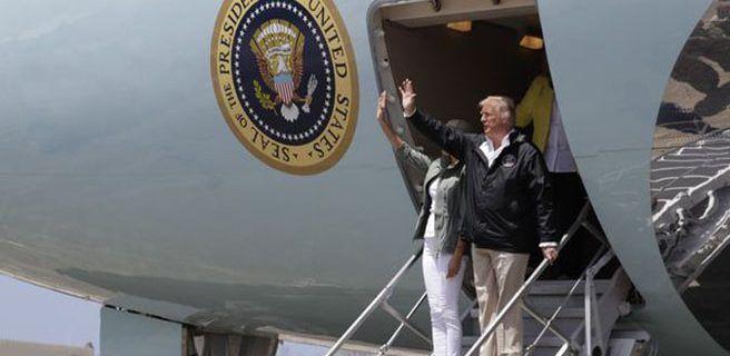 Donald Trump llegó a Puerto Rico