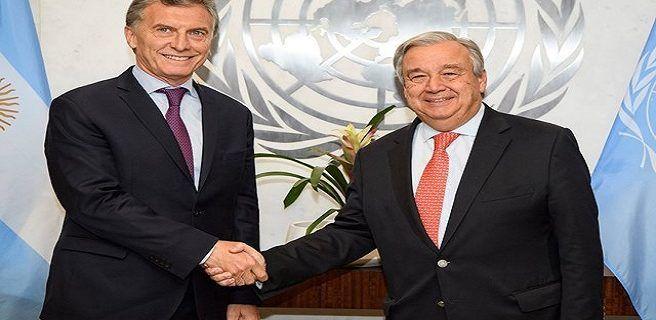 Macri habla de Venezuela en la ONU