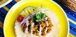 ¿Qué almuerzo? Tacos-tempeh de garbanzos