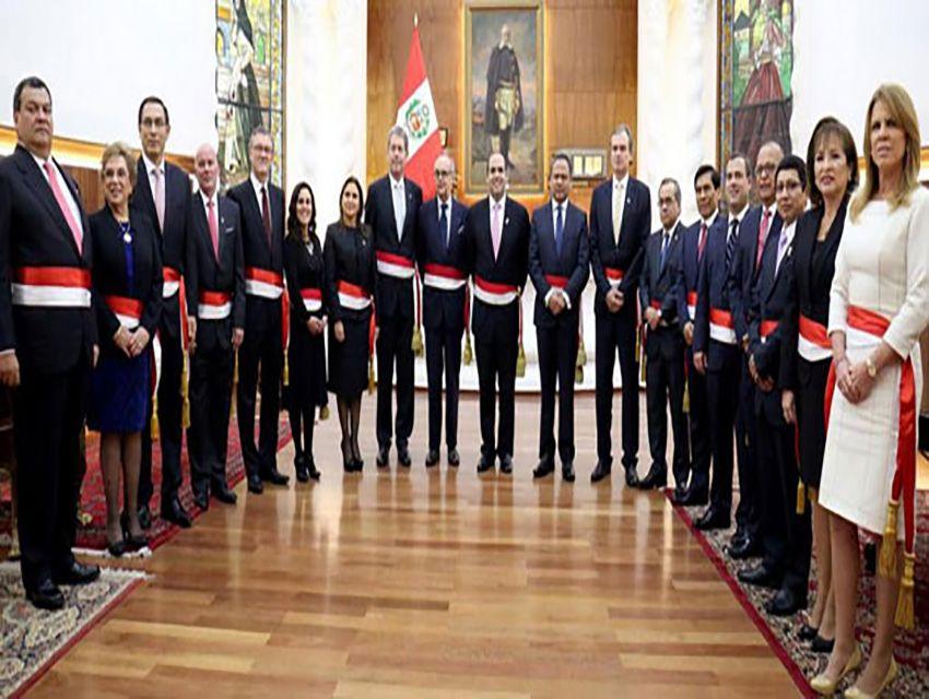 Gabinete ministerial de per present su renuncia el for Ministros del peru